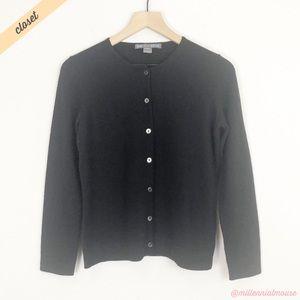 [Saks Fifth Ave] Black Cashmere Cardigan Sweater
